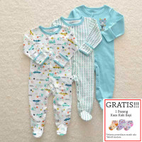 Baju Tidur Bayi Sleepsuit 3 in 1 Mamas Papas Premium Motif Blue Bear