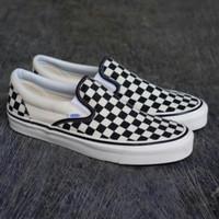sepatu vans slip on checkerboard ukuran 47 46 45 44 43 42 41 40 39 38