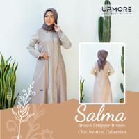 Baju muslim gamis wanita premium remaja dan dewasa upmore salma s-xxxl