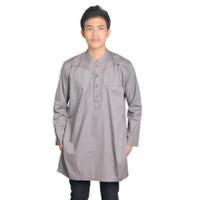Baju Kurta Koko Muslim Lengan Panjang Hamnida Pria IRSYAM - Dark Grey