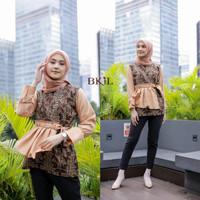 blouse wanita lengan panjang modern   blouse batik   baju batik cewek