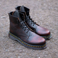 SEPATU KULIT AZCOST FOOTWEAR LEON BOOTS BURGUNDY ORIGINAL
