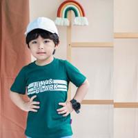 Lily And Clark Kaos Anak Simpel Dan Keren Warna Hijau KLC23 - XS