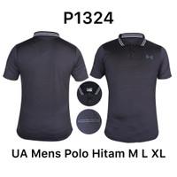Kaos Kerah Polo Dri-Fit Olahraga Black/Hitam P1324