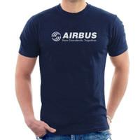 Kaos Baju Combed 30 Distro Airbus pesawat murah polos custom indonesia