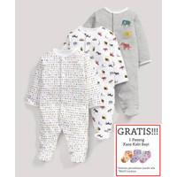 Baju Tidur Bayi Sleepsuit 3 in 1 Mamas Papas Premium Motif Animal