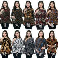 Baju Batik Atasan Tunik Wanita/ AtasanBatik Murah / Tunik BatikWanita