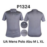 Kaos Kerah Polo Dri-Fit Olahraga Grey/Abu P1324