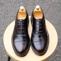 SEPATU KULIT AZCOST FOOTWEAR NEW OXFORD BURGUNDY ORIGINAL