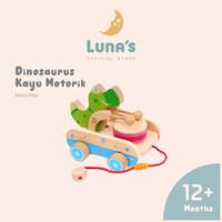Luna's Mainan Buaya Mainan Kayu Edukasi Anak Belajar Jalan