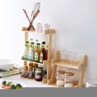 Rak Kayu Bumbu Dapur Set Tempat Bumbu Perlengkapan Dapur Minimalis