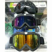 Kacamata Cross Goggle Taffsport untuk Helm Trail KLX CRF Motorcross