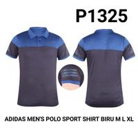 Kaos Polo Kerah Dri-Fit Olahraga BlueBlack/BiruHitam P1325
