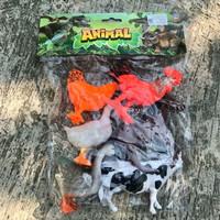 Tomikotoys Animal Set Hewan Unggas 6pcs - Mainan Binatang Karet Ternak