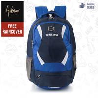 Tas Ransel Backpack Casual Original Tas Punggung Laptop Pria Biru Komb