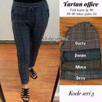 Baggy pants wanita/Celana doty motif kotak
