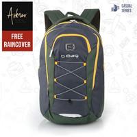 Tas Ransel Pria Original B-Bag Backpack Casual Laptop warna Hijau
