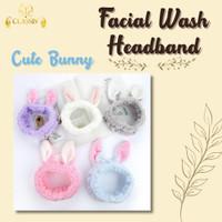 Cute Bunny - Facial Wash Headband | Bando Masker | Bandana Kelinci Luc