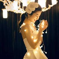 Lampu Hias Meja Kamar Dinding Dekor pesta ulang Tahun Cherry Ball 5M