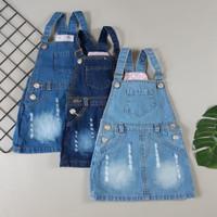 baju kodok pakaian anak perempuan overall rok jeans usia 4 5 6 S M L