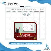 Papan Tulis Tempel Quartet 28x35cm Magnetic To Do Planner White Frame
