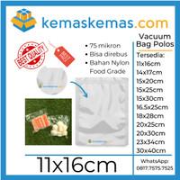 11x16 Plastik Vakum Vacuum Vacum Sealer Bag Makanan Polos Plain