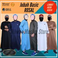 Jubah Gamis Pria Rosal   jubah polos katun baju muslim pria