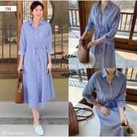 ONNIEFASHION C17 Maxi Dress Shirt 731 Dress Salur Casual Wanita