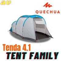 Quechua Arpenaz 4.1 Family Dome Tent Tenda Camping untuk 4 Orang Ori