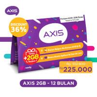 Kartu Perdana Paket AXIS+ 24 Jam 2GB/ 30 Hari (12 Bulan)