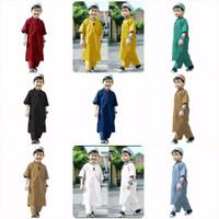 Baju Koko Kurta Pakistan Anak Laki Laki Setelan Baju Muslim Cowok Set