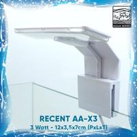 LAMPU LED AQUARIUM AQUASCAPE JEPIT RECENT AA-X3 ULTRATHIN 3 WATT - Putih