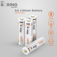 MY BORING USB Rechargeable AA Li-ion Baterai Full Quick Charge 2 Jam