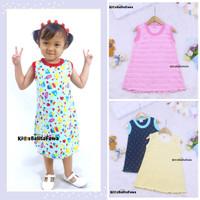 Daster Yukensi uk 1-2th / Dress Anak Perempuan Bahan Kaos Baju Harian