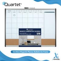 Papan Tulis Tempel Quartet 43x58cm Magnetic Planner Bulletin Arc Frame