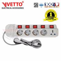 VETTO Stop Kontak MS-5 (5L) - MS5/1,5M Multi Socket Outlets