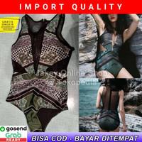 Baju Renang Wanita Perempuan Retro Style Jala Swimwear Bikini IMPORT