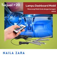 Lampu dashboard mobil remote decorasi aksesoris interior mobil