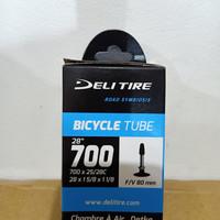 Ban dalam 700 x 25c 80mm deli tire
