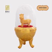 Patung Shio Kuda Mini Lapis Emas 24K Pajangan Shio Kuda