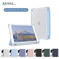 MILS Transparent Trifold Clear Case iPad 6 7 8 Mini 4 5 Pro 11 Air 3 4