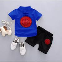 Baju Stelan Imlek Anak Setelan anak laki laki katun SET CHEONGSAM BOY