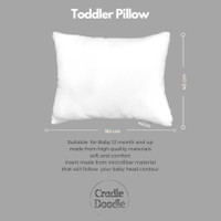 Cradle Doodle Toddler Pillow - Insert Only