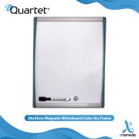 Papan Tulis Tempel Quartet 28x35cm Magnetic Whiteboard Color Arc Frame