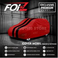 Body Cover Sarung mobil Avanza Brio Calya Innova - Merah list Hitam