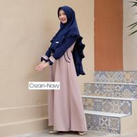 Setelan Baju Gamis Maxy Wanita Muslim dewasa Shanum Syari moscrepe CB