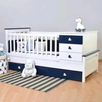 box tempat tidur bayi,tempat tidur anak kayu jati Duco minimalis