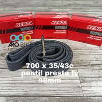 Ban dalam 700 x 35/43C Kenda Presta valve FV 48mm ban roadbike fixie
