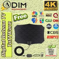 Antena TV Digital Indoor Taffware D140 Signal Booster Jernih Terbaik