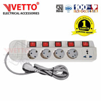 VETTO Stop Kontak MS-5 (5L) - MS-5/3M Multi Socket Outlets